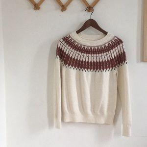 Vintage inspired cozy winter sweater